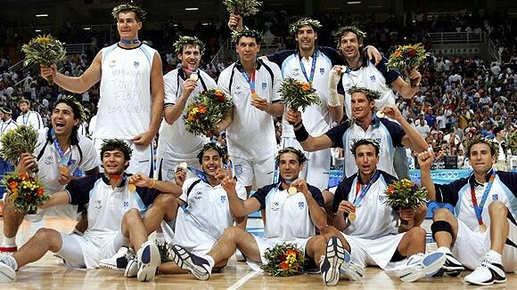 Seleccion Argentina de Basquet . Medalla de Oro . Juegos Olimpicos Atenas 2004