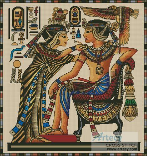 Artecy Cross Stitch. Egyptian Papyrus Cross Stitch Pattern to print online.