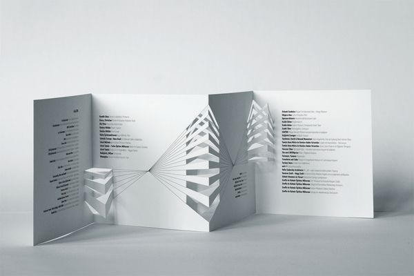 Architectural Model Festival brochure by Eszter Misztarka, via Behance