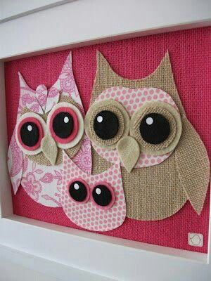 Find owl templates & make my own fabric owls