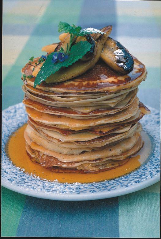 The most delicious flapjacks for breakfast.... yummmmmmmmmmmyyyyyyyyy