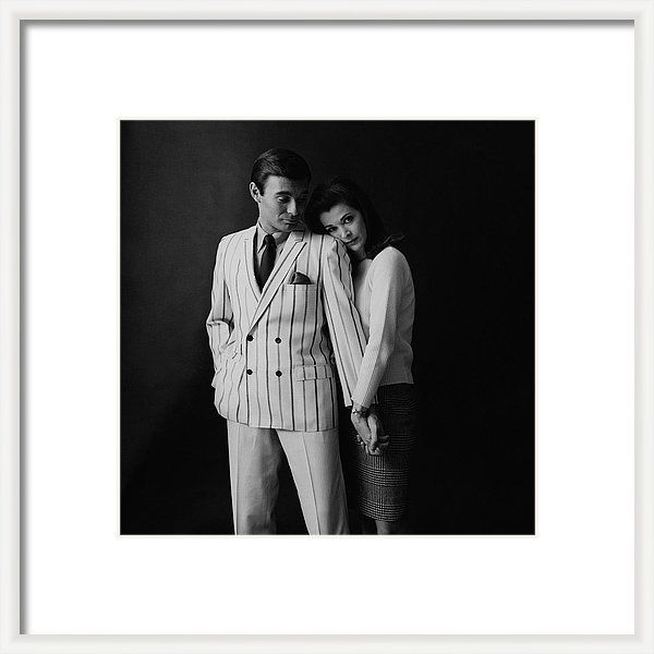 Actress Framed Print featuring the photograph Jessica Walter Posing With A Male Model by Leonard Nones