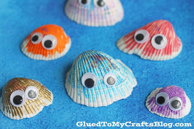 "Inspired by our ""soon-to-be-home"" in Florida – today's Simple Seashell Friends Kid Craft idea is PERFECT for lazy summer days and those who have easy access to unlimited shells on the beach {or in my case – cheap shells you find at your local Dollar Tree!} With just a little colorful paint, some wiggle eyes …"