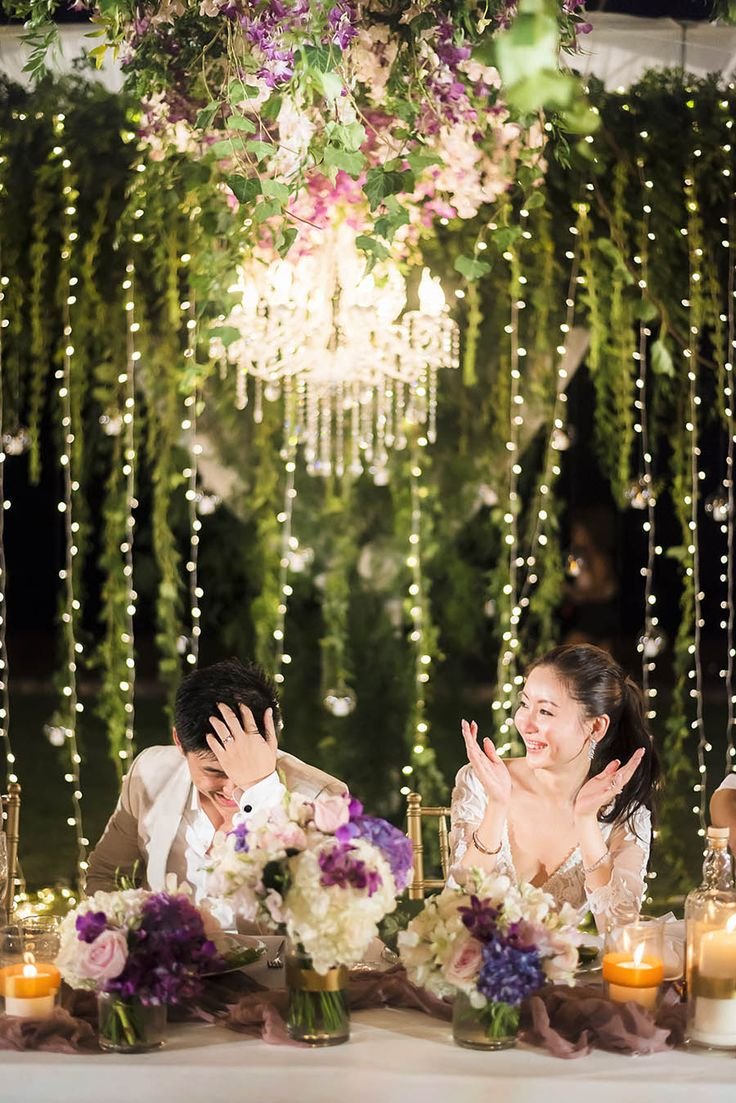 Suspended florals for weddings suspended floral arrangements - Plush Phuket Wedding Which Ended In An Explosion Of Fireworks Aston And Victoria