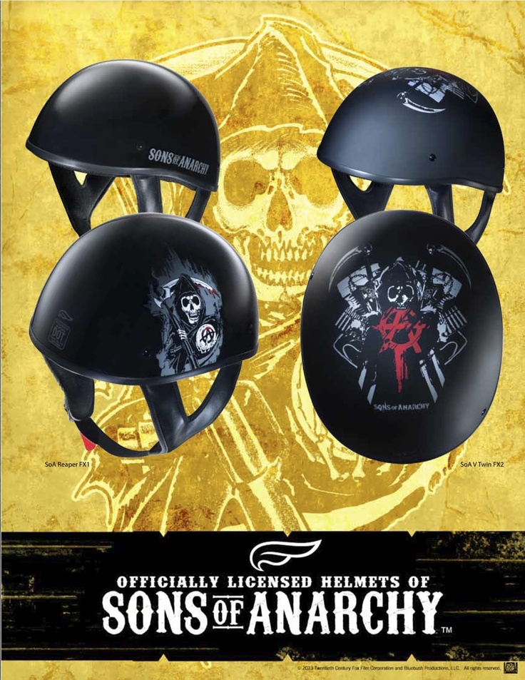 Officially Licensed Sons of Anarchy Helmets by Fulmer Helmets - http://www.fulmerhelmets.com/dealerlocator/