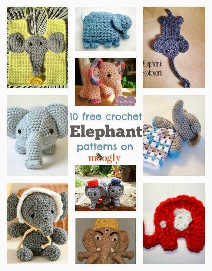 Best DIY Projects: Elephants on Parade: 10 Free Crochet Elephant Patterns!
