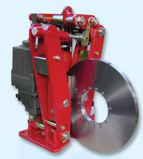 The SB 8 disc brake model is made for applications such as conveyor belts, trolleys and gantries.