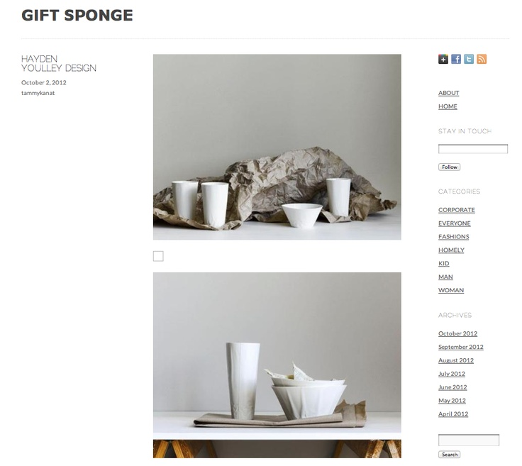 Paper Series featured on Gift Sponge