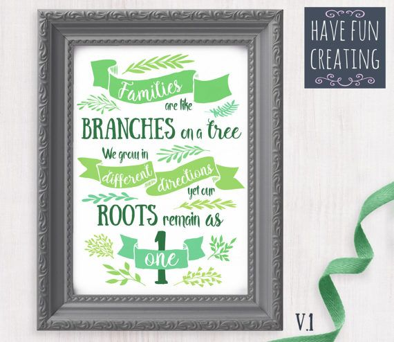 Family Quote Poster  Print at home by havefuncreating on Etsy