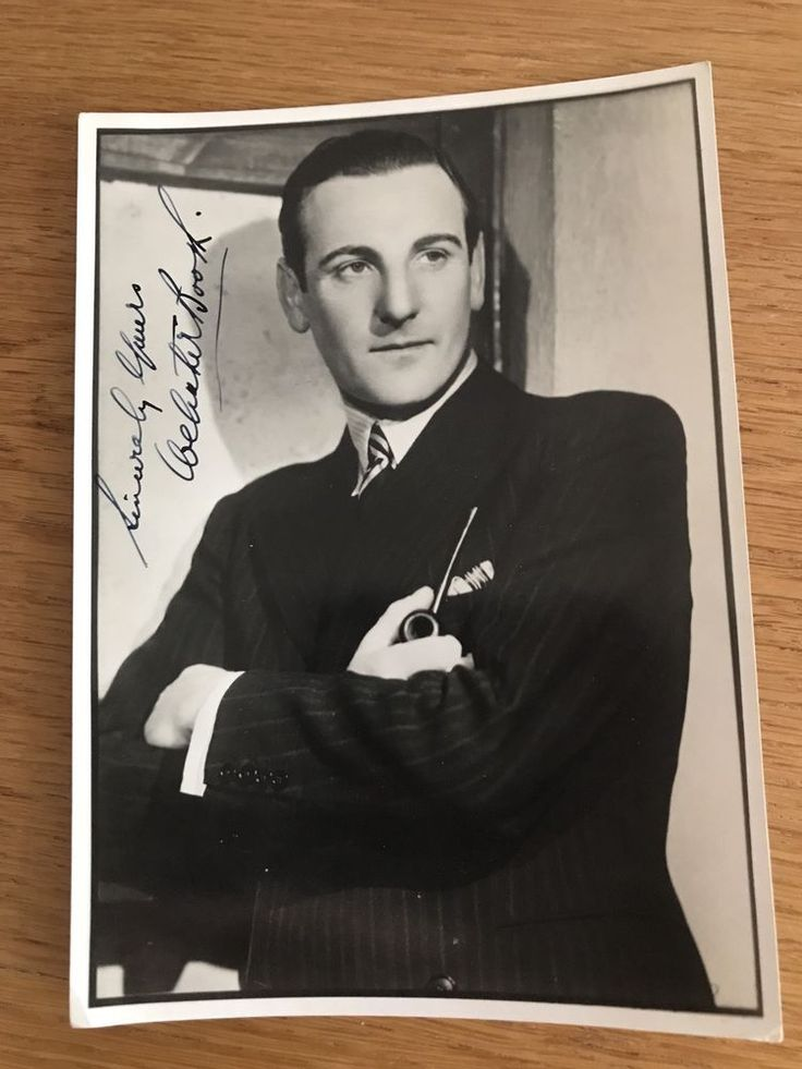 Webster Booth Signed Photo Autograph M10027