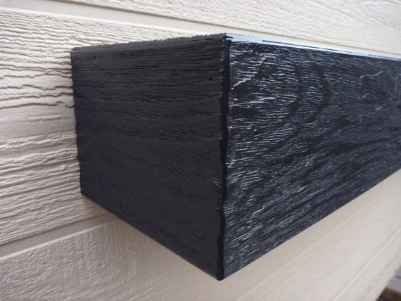 Black Fireplace mantel.60 Long x 5.5 Tall x by WPBCustomWoodwork