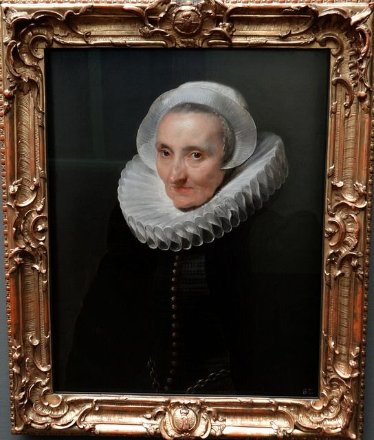 Gemaldegalerie Alte Meister, Dresden  Anthony van Dyck (1599-1641) - Portrait of an old lady, 1618