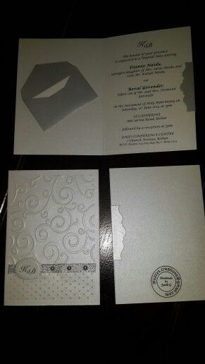 Wedding invitations - handmade by Sandi-G