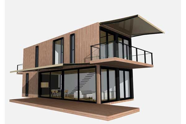 Architect Sean Godsell's FutureShack won world acclaim and the modular resPOD is designed with up to six containers.