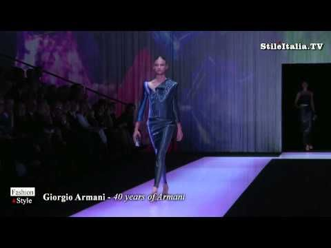 """Italian Fashion""  - Giorgio Amani - 40 Years of Armani - ""Italian Excel..."