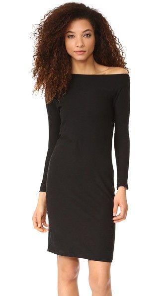 Black James Perse Off Shoulder Dress