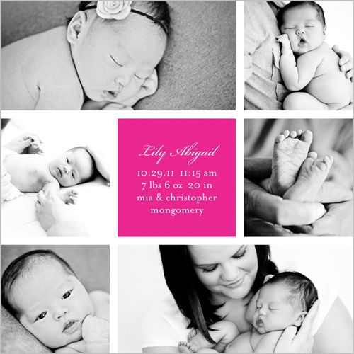 Little Girl Birth Announcement