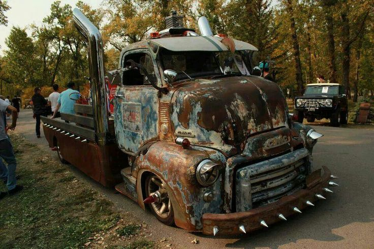 COOL SPIKED COE Rat Rod Truck..