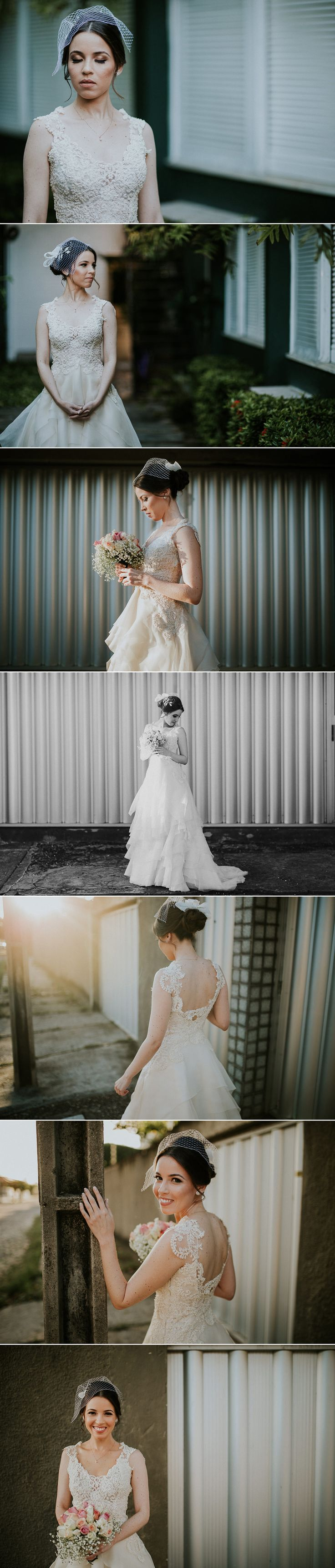 Fotos da Noiva Milena pronta antes do casamento. Inspiração de vestido de casamento para noivas lindas.