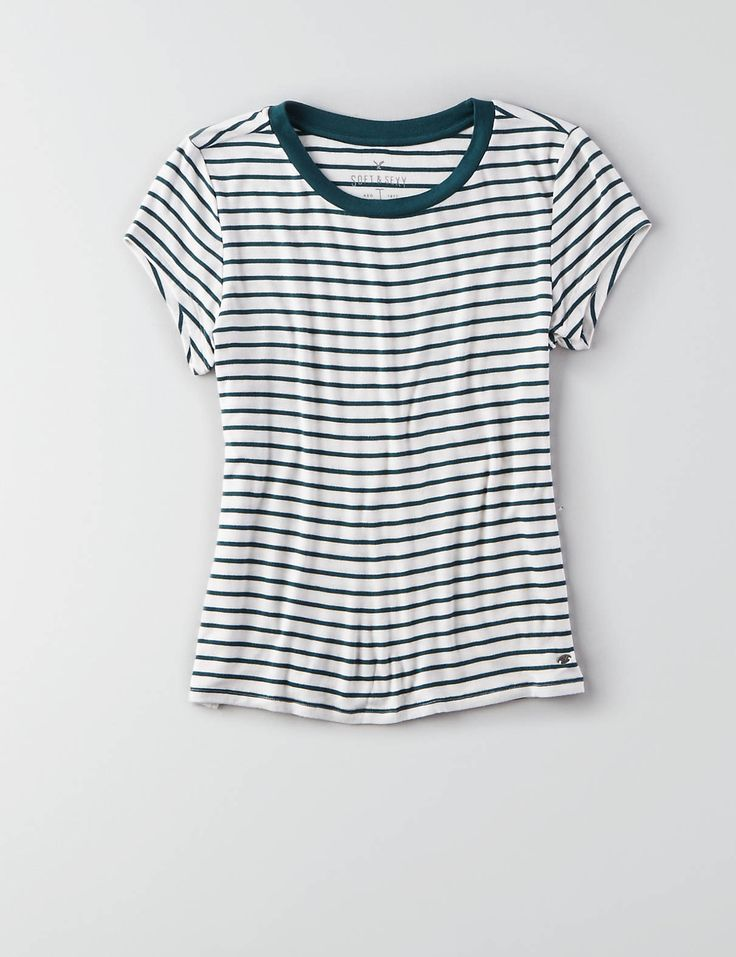 AEO Soft & Sexy Tomgirl T-Shirt , Brown   American Eagle Outfitters