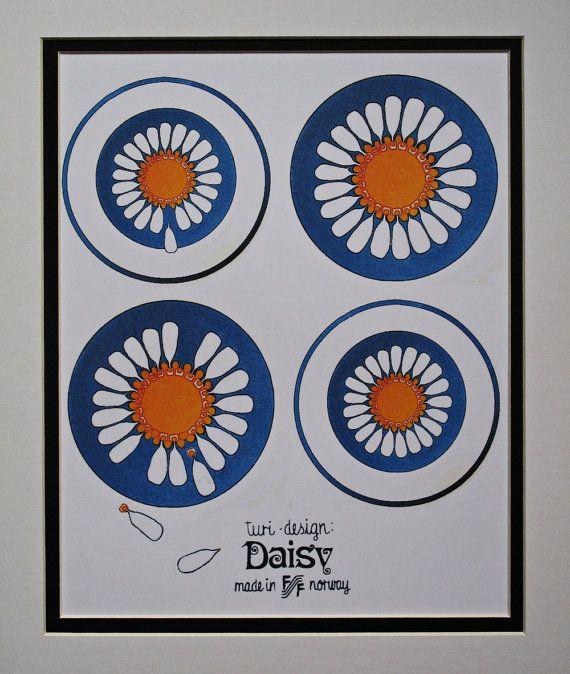 Art Poster Figgjo Flint Turi Daisy Design wall by MistralGraphics, £9.50