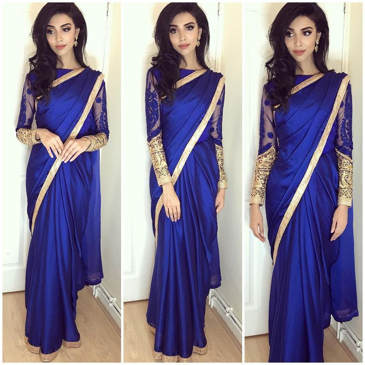 "19.3 k mentions J'aime, 237 commentaires - R⃒ U M E N A - B⃒ E G U M (@rumena_101) sur Instagram : ""Absolutely loveeee this rich royal blue saree from of course my favourite @diyaonline I filmed a…"""