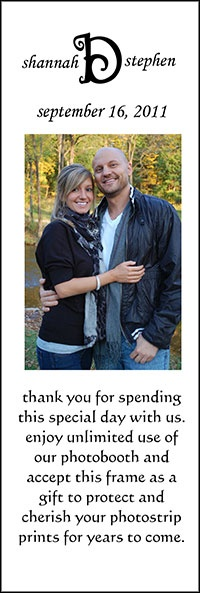 "2"" x 6"" Magnetic Photo Favors - Personalized for your event"