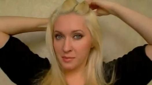 Party hairstyles for medium long hair tutorial Easy cute updo Angel