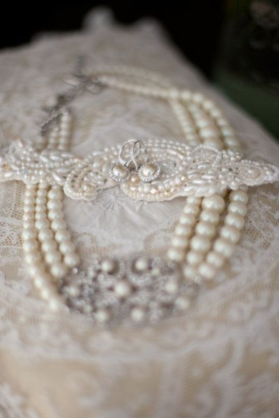 Pearls and lace...