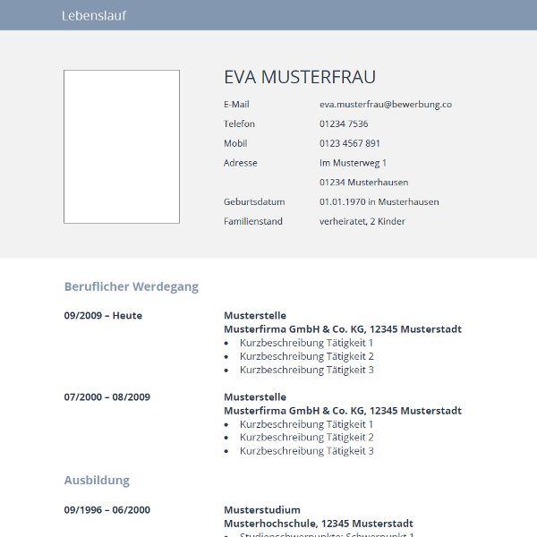 52 best Lebenslauf Muster \ Vorlagen images on Pinterest Cv - wordpad resume template