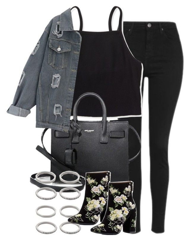 """""""Untitled #2338"""" by do-the-calder ❤ liked on Polyvore featuring Topshop, Aéropostale, Yves Saint Laurent, Forever 21 and Miss Selfridge"""
