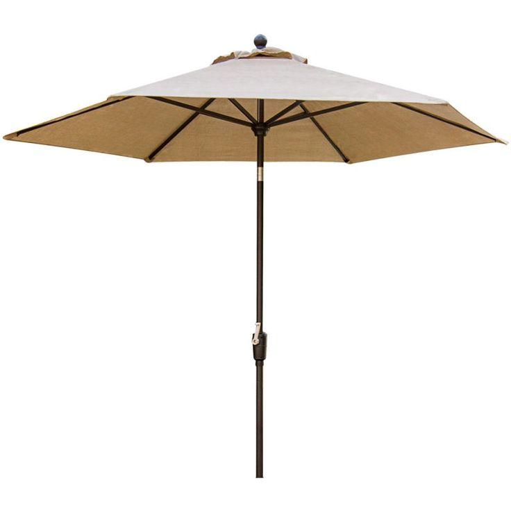 Hanover TRADITIONSUMB Traditions 9 Foot Tall Aluminum Framed Outdoor Umbrella Natural Oat Furniture Outdoor Furniture Outdoor Umbrellas