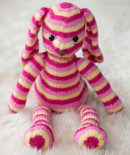 Red Heart Free Crochet Patterns Animals : Hop Along Bunny Knitting Pattern Red Heart Knitting ...