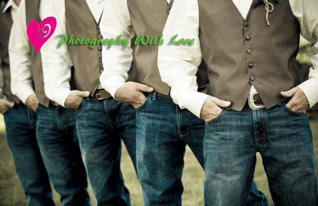 Groomsmen for casual country wedding