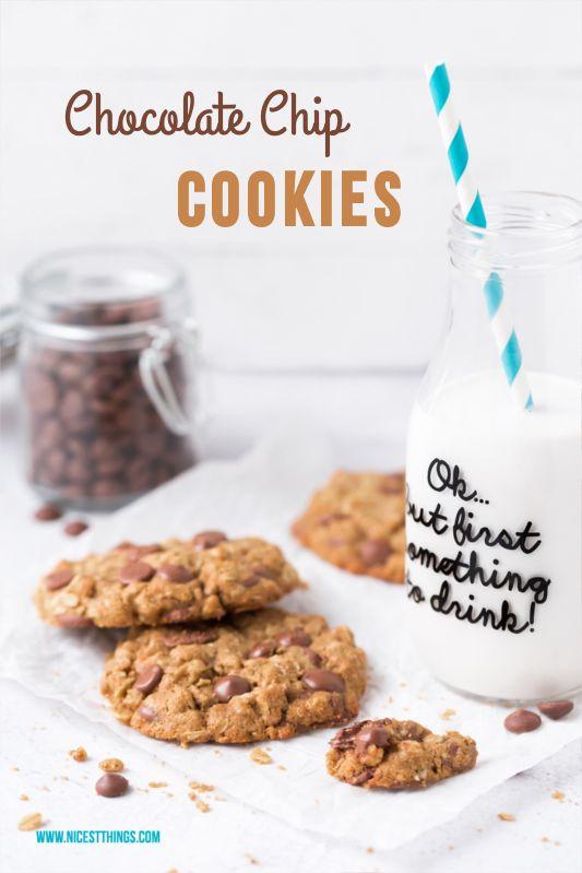 Das beste Chocolate Chip Cookie Rezept, gesund & wahlweise vegan