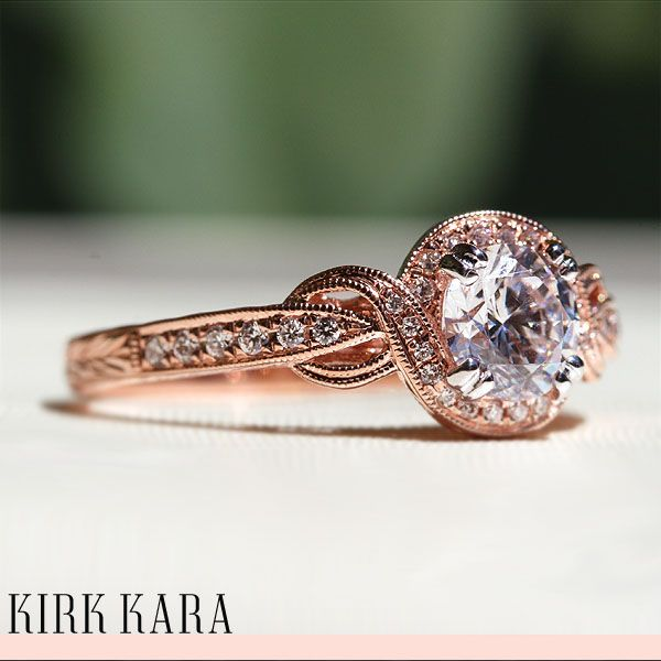K150r65rwr Twist Engagement Ringsrose Gold