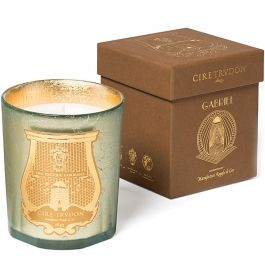 """$105.00  Cire Trudon Gabriel Candle  Brand: CIRE TRUDON Burn Time: 60 hours Scent Family: HOLIDAY Primary Scents: BIRCH, CHESTNUT, MOSS Wax Family: Vegetable Net Weight: 9.5 oz Dimensions: 4.25"""" tall x 3.5"""" wide"""