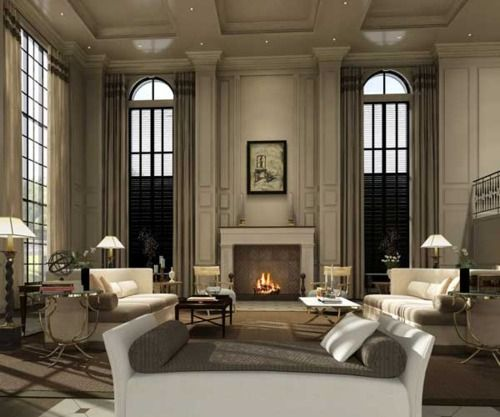 Pillar Decoration In Living Room How To Hide Types Of: Love Those Tall Floor To Ceiling Windows, And The