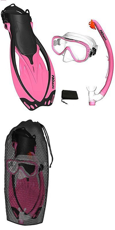Snorkels and Sets 71162: Pink, Sm, Scs0003, Promate Snorkeling Mask Fins Dry Snorkel Set Gear Bag New -> BUY IT NOW ONLY: $40.59 on eBay!