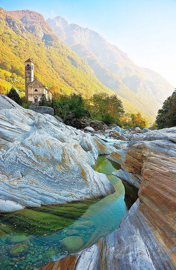 In Lavertezzo, in the district of Locarno in the canton of Ticino in Switzerland.
