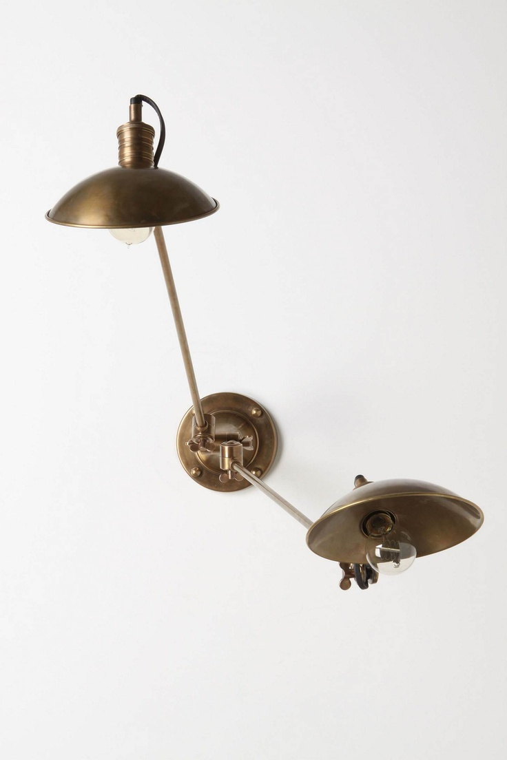 Couplet Sconce - http://www.anthropologie.com/anthro/product/home-lighting/21166186.jsp: Decor, Lamps, Interior, Anthropology, Lighting, Bed, Couplet Sconce, Sconces, Brass