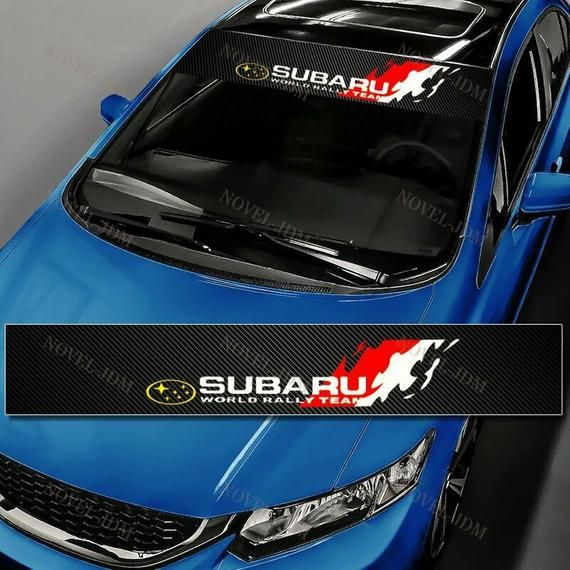 Toyota TRD Racing Front Window Windshield CarbonFiber Vinyl Banner Decal Sticker