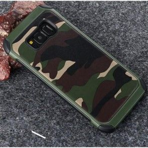 Husa Samsung Galaxy S8 G950, Carcasa Protectie, Camouflage, Culoare Army Green
