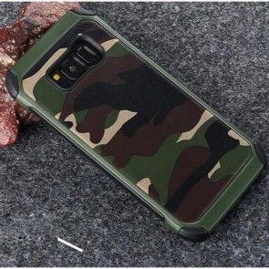 Husa Samsung Galaxy S8 PLUS G955, Camouflage, Culoare Verde