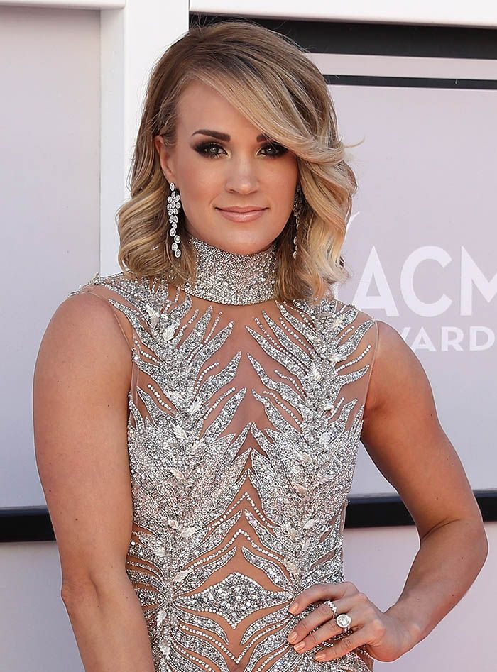 Carrie Underwood at the 52nd Academy of Country Music Awards arrivals at T-Mobile Arena in Las Vegas on April 2, 2017