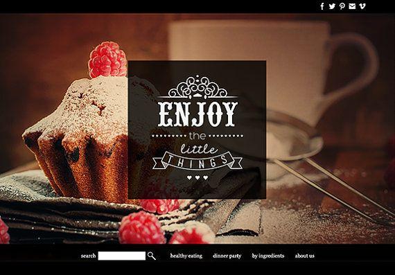 #wordpress website design: food & restaurant website custom web design premade website design theme