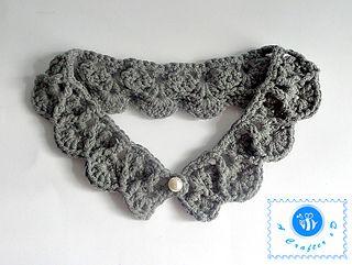 Pearl drops collar pattern by Maz Kwok