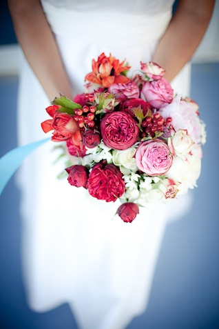 Deep shades of pink, fuschia and orange make for a gorgeous, inspiring wedding palette perfect for summer!