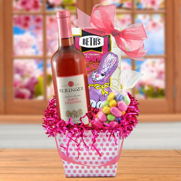 73 best products i love images on pinterest easter baskets pretty in pink easter wine basket negle Image collections