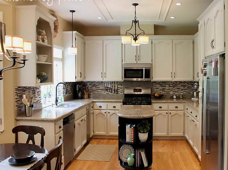 Kitchen Makeovers For Small Kitchens | Small Galley Kitchen Makeover With  Regular Design